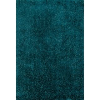 Hand-tufted Dream Blue Shag Rug (5'0 x 7'6)