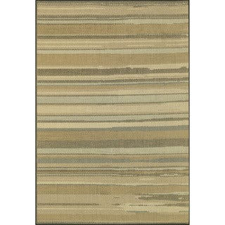 Biscayne Beige/ Multi Indoor Outdoor Rug (3'11 x 5'10)