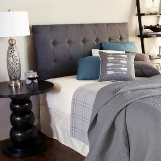 Humble + Haute Sussex Charcoal Full Upholstered Tufted Headboard