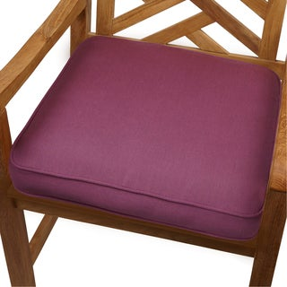Purple Orchid Indoor/ Outdoor 20-inch Chair Cushion with Sunbrella Fabric