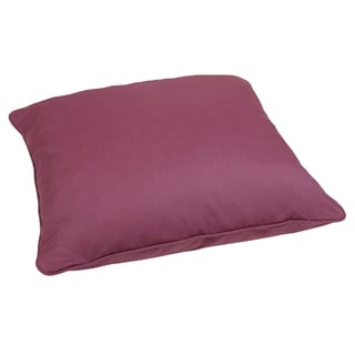 Purple Orchid 28-inch Square Indoor/ Outdoor Floor Pillow with Sunbrella Fabric