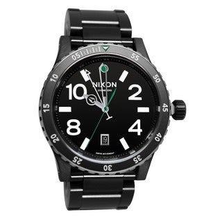 Nixon Men's Diplomat Stainless Steel Black Automatic Watch
