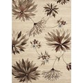 Large Floral Beige/ Multi Area Rug (4' x 5'3)