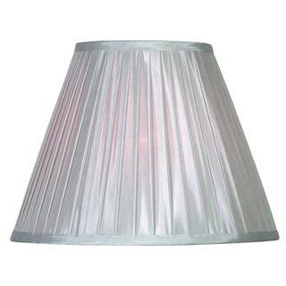 Design Match 15-inch Silver Soft Pleat Shade