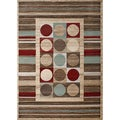 Circles and Stripes Multi Rug (3' 3 x 5')