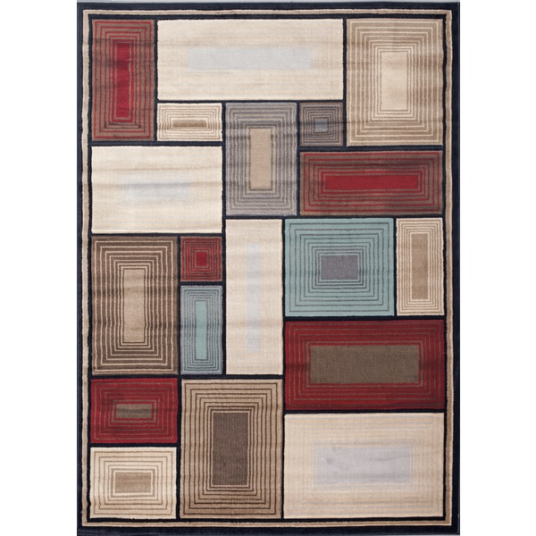 Multi Boxes Area Rug (3' 3 x 5')