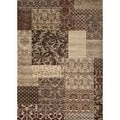 Patchwork Beige Brown Rug (5' 3 x 7' 3)
