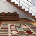 Circles and Stripes Area Rug (7'10 x 10'2)