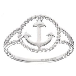 La Preciosa Sterling SIlver Anchor Fashion Ring