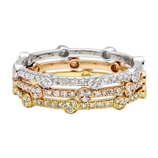 Beverly Hills Charm 14k Gold 1/6ct TDW Stackable Diamond Eternity Band Ring (H-I, SI2-SI1)