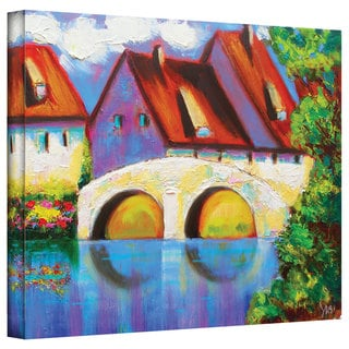 Susi Franco 'German Village on Rhine' Gallery-wrapped Canvas Art