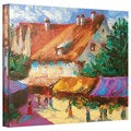 Susi Franco 'Rhone Village Market' Gallery-wrapped Canvas Wall Art