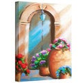 Susi Franco 'Tuscan Stoop' Gallery-wrapped Canvas Wall Art