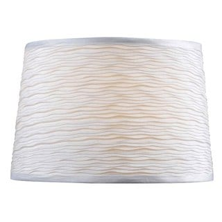 Design Match 15-inch White Tapered Drum Shade