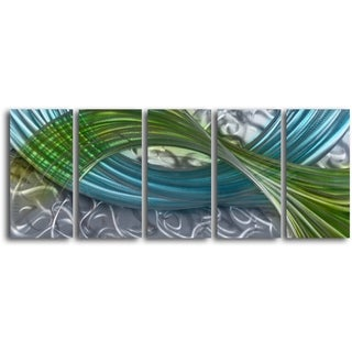 'Estuary Forms' Handcrafted 5-piece Metal Wall Art