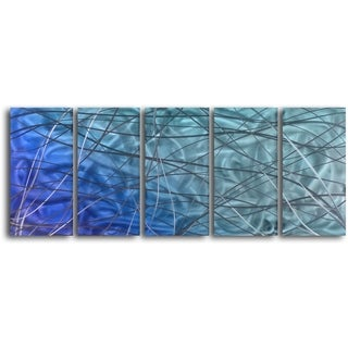 'Beautifully Intertwined in Chaos' Handcrafted 5-piece Wall Art Set