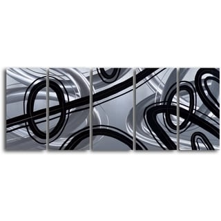 'Road to Nowhere' Handcrafted 5-piece Metal Wall Art Set