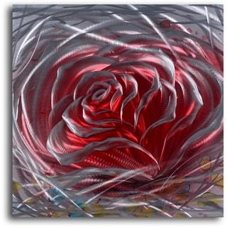 'Iron Rose' Handmade Metal Wall Art