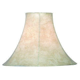 Design Match 15-inch Tan Faux Leather Bell Shade