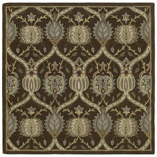 Hand-tufted Brown William Morris Rug (11'9 x 11'9)