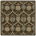 Scarlett Brown William Morris Hand-Tufted Rug (9'9 x 9'9 Square)