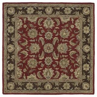 Hand-tufted Scarlett 'Kashan' Raspberry Wool Rug (11'9 x 11'9)