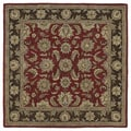 Hand-tufted Scarlett 'Kashan' Raspberry Wool Rug (5'9 x 5'9)