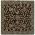 Hand-tufted Scarlett Chocolate Square Wool Rug (3'9 x 3'9)