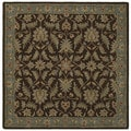 Hand-tufted Scarlett Chocolate Square Wool Rug (5'9 x 5'9)