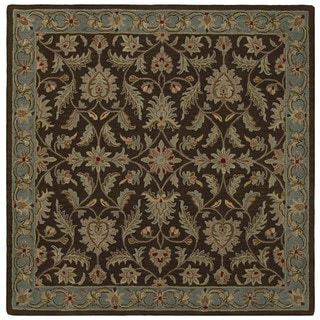 Hand-tufted Scarlett Chocolate Square Wool Rug (9'9 x 9'9)