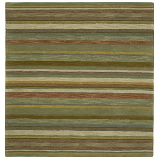 Scarlett Multi Stripes Hand-Tufted Rug (7'9 x 7'9 Square)