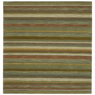 Scarlett Multi Stripes Hand-Tufted Rug (9'9 x 9'9 Square)