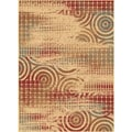 Contemporary Plaza 3140 Red Runner Rug (2'7 x 7'3)