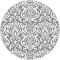 Metro 1099 Grey Contemporary Area Rug (5'3 Round)