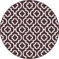 Metro 1028 Brown Contemporary Area Rug (5'3 Round)