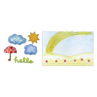 Sizzix Framelits Hello Rainbow Die/ Textured Impressions Set (5 Pack)