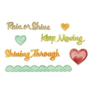 Sizzix Framelits Rain or Shine Die/ Textured Impressions Set by Rachael Bright (7 Pack)