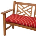 Red/ Gold Stripe 48-inch Corded Indoor/ Outdoor Bench Cushion with Sunbrella Fabric
