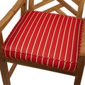 Red/ Gold Stripe Indoor/ Outdoor 20-inch Chair Cushion with Sunbrella Fabric