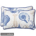 Pillow Perfect Outdoor Sealife Rectangular Throw Pillow (Set of 2)