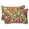Pillow Perfect 'Wilder Kiwi' Rectangular Outdoor Throw Pillow (Set of 2)