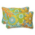 Pillow Perfect 'Glynis Floral' Rectangular Outdoor Throw Pillow (Set of 2)