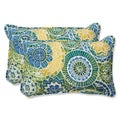 Pillow Perfect 'Omnia Lagoon' Rectangular Outdoor Throw Pillow (Set of 2)