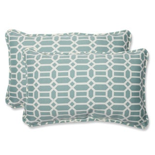Pillow Perfect 'Rhodes Quartz' Rectangular Outdoor Throw Pillow (Set of 2)