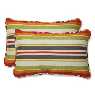 Pillow Perfect 'Roxen Stripe Citrus' Rectangular Outdoor Throw Pillow (Set of 2)