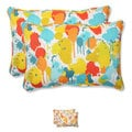 Pillow Perfect 'Paint Splash' Over-sized Outdoor Rectangular Throw Pillow (Set of 2)