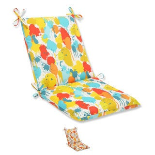 Pillow Perfect 'Paint Splash' Squared Corners Outdoor Chair Cushion