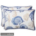 Pillow Perfect 'Sealife' Over-sized Rectangular Outdoor Throw Pillow (Set of 2)