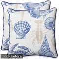 Pillow Perfect 'Sealife' 18.5-inch Outdoor Throw Pillow (Set of 2)