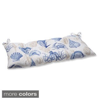 Pillow Perfect 'Sealife' Outdoor Wrought Iron Loveseat Cushion